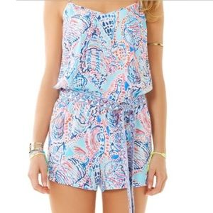 Lilly Pulitzer Dusk Romper Shell Me About It